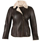 Ladies Sheepskin Coat Flying Jacket Aviator