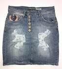 Please G713BQ2DDF Skirt Mini Rock Minirock Jeans Destroy Used Wash Look XS,S,M,L
