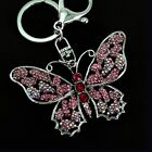 Clear Rhinestone and Crystal Butterfly Key Chain / Purse Charm