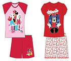 GIRLS DISNEY MINNIE MOUSE GIRLS T SHIRT SHORTS SUMMER OUTFIT AGE 4 5 6 7 8