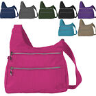 Mens - Ladies Lightweight  Triple Zipped Shoulder - Cross Body Bag