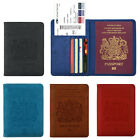 RFID Blocking Passport Leather Case Travel Wallet Case Cover with Card Holder