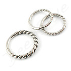 HINGED Micro SEGMENT RING Surgical Steel TWISTED STEEL 1.2mm  Tragus Rook Daith