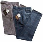 Relco Men's Tweed Stay Press Trousers Beige Blue Sta Press Sizes 32 To 42 Golf
