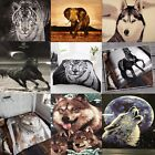 Faux Fur Throw 3D Animal Blanket Print Mink Sofa Bed Large Soft Sofa Bed Throws
