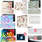 Hard Case Pretty Flower Pattern For Macbook Laptop + Soft Floral Keyboard Cover