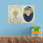 PERSONALISED FIRST HOLY COMMUNION PHOTO BANNER NAME AND DATE CLASSIC GOLD DESIGN