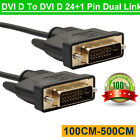 LCD Digital Monitor DVI D To DVI-D Gold Male 24 1 Pin Dual Link TV Cable For TFT