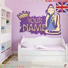 Princess 04 PERSONALISED NAME  Children Room Wall Sticker Decal Fabric  Vinyl UK