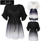 US STOCK AMZ Plus Size L - 5XL Women Dress Casual Party Evening Short Mini Dress