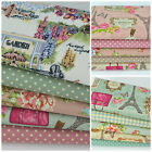 100% cotton canvas fabric, fat quarter bundles, for sewing & crafts