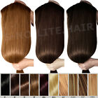 Thick Double Weft 160G-200G 100% Clip In REMY Human Hair Extensions UK SHIP O808