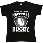 You Can't Buy Happiness You Can Play Rugby Same Thing Womens Ladies T-Shirt