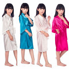 Spa Party Robes For Girls, Flower Girl wedding , Junior Bridesmaid Satin Robe