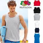 2, 5 Pack Mens Fruit of the Loom Plain Athletic Vests Tank T