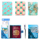 Passport Travel PU Leather Organizer holder Card Case Protector Cover Wallet