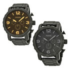 Fossil Nate Chronograph Black Dial Ion-plated Mens Watch - Choose color