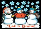 Snowman Shirt, Three Jolly - Frosty - SnowMen, Snowflakes, Winter, Small - 5X