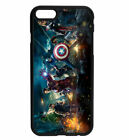 Marvel DC Avengers Battle Rubber Bumper Phone Case for iPhone Samsung 's D20