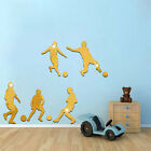 Removable Football Players Mirror Wall Stickers Art Background Decor Decal