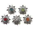 Silver Hollow Flower Rhinestone Snaps Buttons Charms Fit 18mm Snap Jewelry