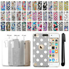 For Apple iPod Touch 5 5th/ 6 6th Gen Slim Sparkling Silver TPU Case Cover + Pen