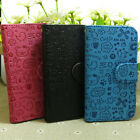 Lovely Graffiti Printed Wallet Holder flip case cover for Samsung Galaxy Phone
