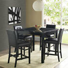 Dorel Living Andover 5-Piece Faux Marble Counter Height Dining Set, Multiple Co