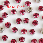 200Pcs 4mm Round Glass Crystal Sew On Claw Rhinestone For Dress Bags Decoration