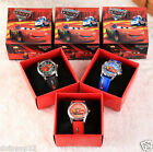 Lot Popular Car Story Children Wristwatch Kids Cartoon Watches With Boxes D667