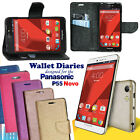 Diary Wallet Style Folio Flip Flap Cover Case For Panasonic P55 Novo 4G