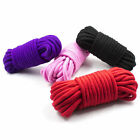 10 Soft Cotton Ropes- 10 metres (35ft) each rope - Black Red Purple Pink