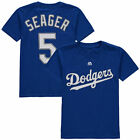 Youth Los Angeles Dodgers Corey Seager Majestic Blue Jersey T Shirt