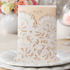 White Lace Free Personlized Laser Cut Wedding Party Invitation Cards Envelopes