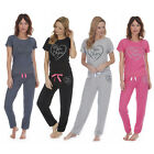 FOREVER DREAMING Womens Jersey Pajama Set PJ Top Lounge Bottoms Nightwear New