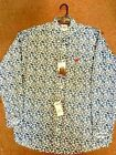 Cinch Men's Blue and White Paisley Long Sleeve Western Shirt #MTW1104249-WHT