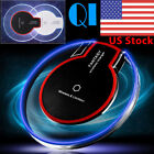 US Seller Clear Qi Wireless Charger Charging Pad for Samsung Galaxy S7 S6 Edge