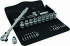 "Wera 8100 SC11 Zyklop Metal Switch 1/2"" Slim Ratchet & Socket Set Imperial 28pc"