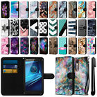 For Motorola Droid Turbo 2 Kinzie XT1585 Slim Canvas Wallet Case Cover + Pen