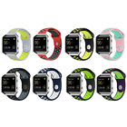 Replacement Sport Silicone Watch Band Bracelet Strap Metal Frame fr Fitbit Blaze