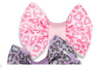 New Dog Cat Clothing Hair Bows Pink Lavender Rubber Band