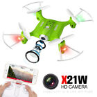 Syma X21W HD Camera Drone with WIFI FPV 2.4G 6-Axis Gyro Hovering RC Quadcopter
