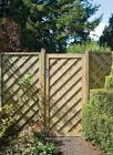 GARDEN TIMBER WOODEN GATE - Tall Elite Chevron Gate 1.8m by GRANGE