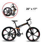 "26"" Cyrusher US Stock Full Suspenion Man Mountain Bike 24 Speed Foldable Bike"