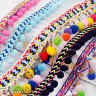2Y Rainbow Pom Pom Ball Bobble Jumbo Bead Tassel Sewing Fringe Trim Sew Ribbon