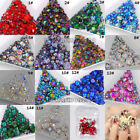 Mix Shapes Glitter 3D Flatback Diamond Acrylic crystal Nail Art Decoration Gems