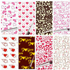 "Heart Chocolate Transfer Sheets Cake Decoration Paper 13"" x 8 1/4"" - Pack of 10"