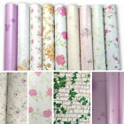 Flowes Wallpaper Removable Furniture Cupboard Door Cover Self Adhesive Sticker