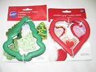 Wilton COMFORT-GRIP Cookie Cutter-HOLIDAY Christmas Tree~Heart Baking Decorating