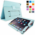 """Snugg Leather Case Cover Built In Stand For Apple New iPad 2017 9.7"""" Air"""